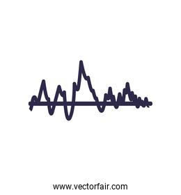 Isolated wave fill style icon vector design
