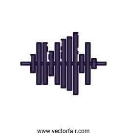 Isolated music wave fill style icon vector design