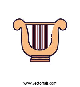 Isolated music harp instrument fill style icon vector design