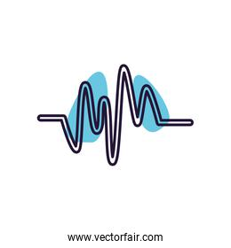 Isolated music wave line style icon vector design