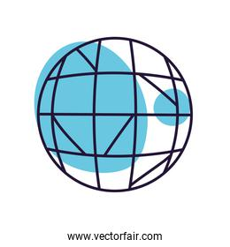 Isolated disco sphere line style icon vector design