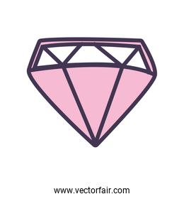 Isolated diamond line style icon vector design