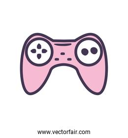 Isolated videogame control line style icon vector design