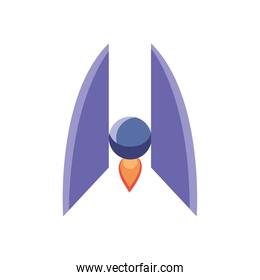 Isolated rocket line style icon vector design