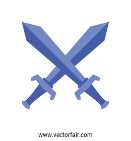 Isolated swords line style icon vector design