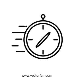 Isolated compass line style icon vector design