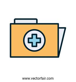 Isolated file with cross line and fill style icon vector design