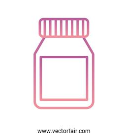 Isolated medicine jar gradient style icon vector design