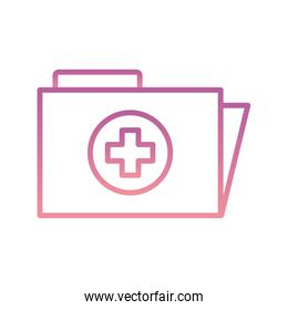 Isolated file with cross gradient style icon vector design
