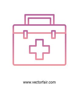 Isolated kit with cross gradient style icon vector design