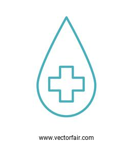 Isolated drop with cross line style icon vector design