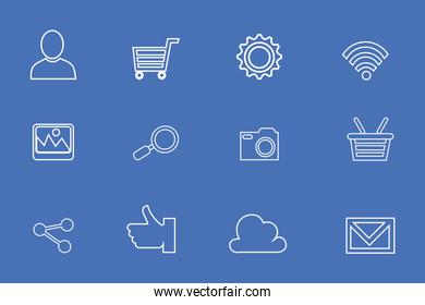 bundle of ecommerce set icons