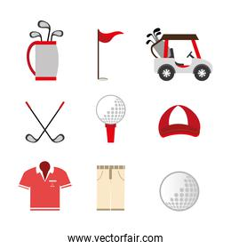 bundle of golf set icons