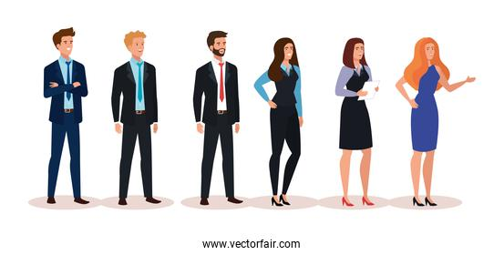 group of business people avatar character
