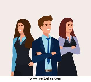 meeting of business people avatar character