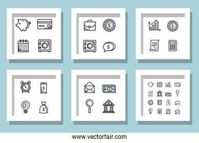 bundle of set business icons
