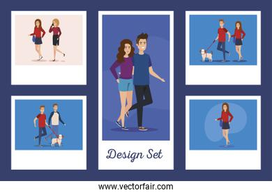 set designs of young people avatar character
