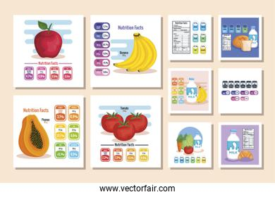 nutrition facts with healthy food labels