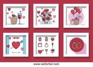 bundle of designs love and decoration