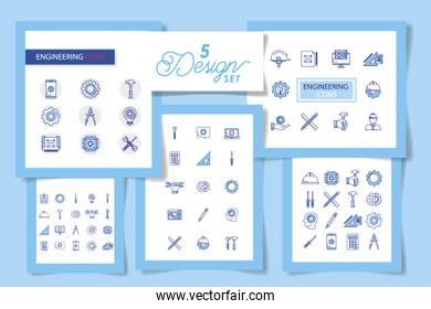 bundle with set five designs engineering and tools working