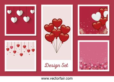 set designs of love with decoration
