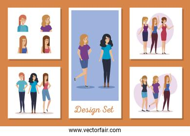set designs of young women