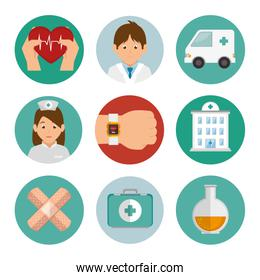 bundle set of medicine icons