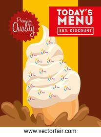 poster premium quality authentic delicious ice cream