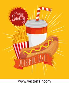 poster premium quality authentic taste fast food