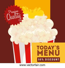 poster premium quality of popcorn fifty discount