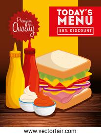 poster of premium quality with delicious food
