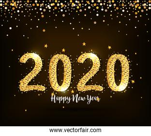poster of happy new year 2020