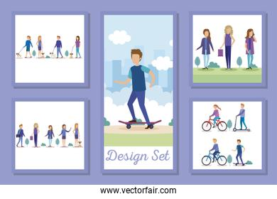 designs set people in the park