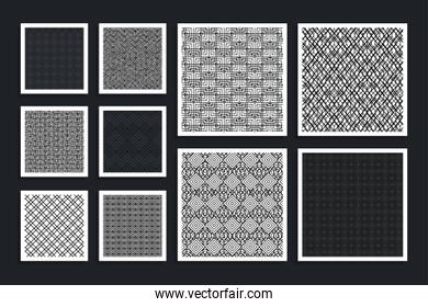 bundle of patterns geometric set