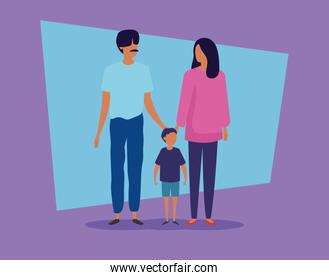 parents with son avatar characters