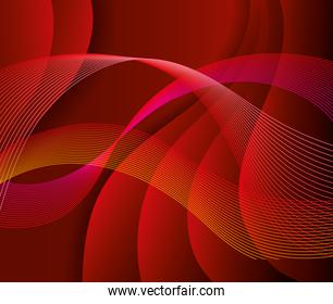 waves background red color icon