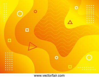 waves background yellow color icon