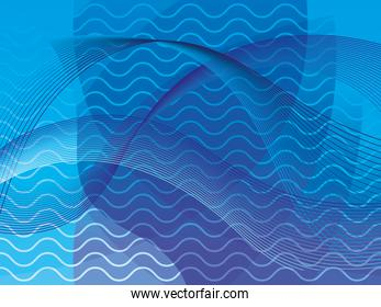 waves background blue color icon
