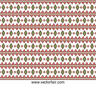 Isolated boho striped background vector design