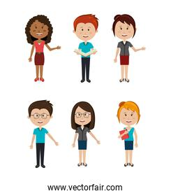 group of teachers avatar characters