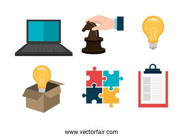 set of business commerce icons