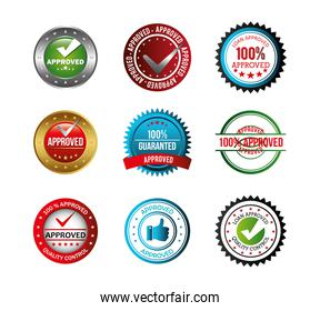 set of seal quality icons