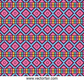 pink and blue squares background vector design