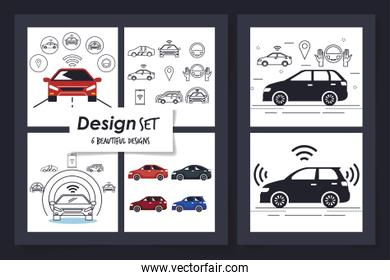 six of designs of cars smart