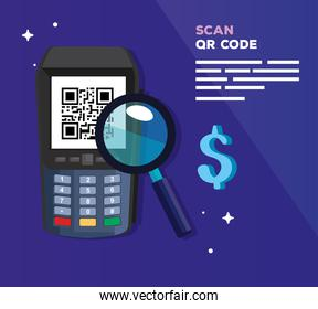 scan code qr with dataphone