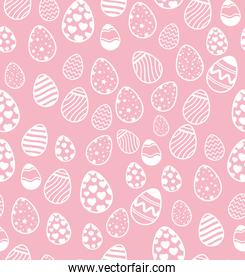 cute background of eggs easter