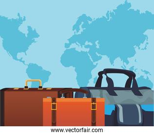 travel bags icon, colorful design