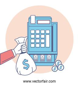 Money and business icon vector design