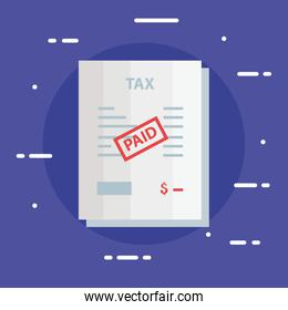 document of tax paid icon