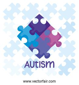 world autism day with puzzle pieces